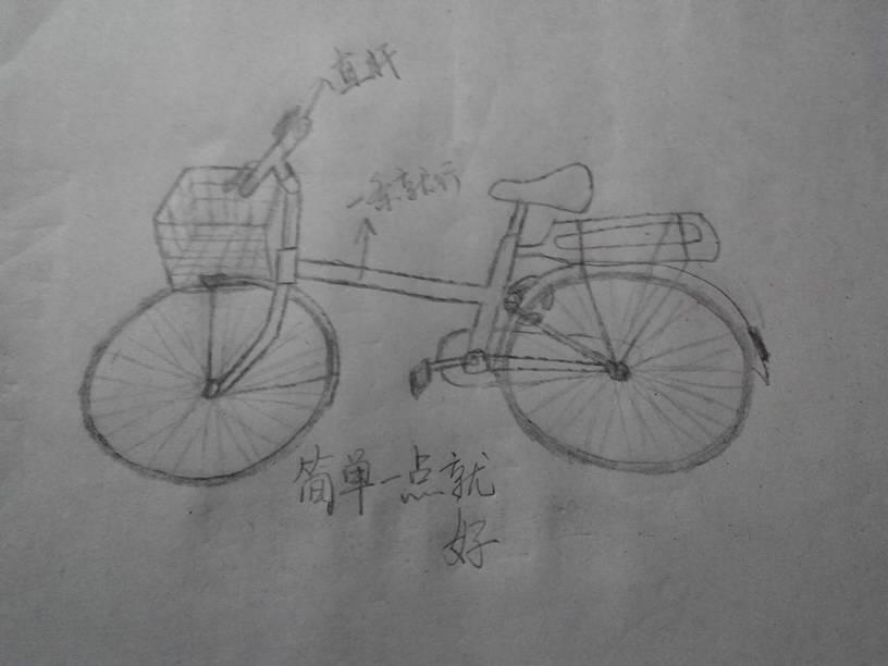 折叠自行车简笔画分享展示图片
