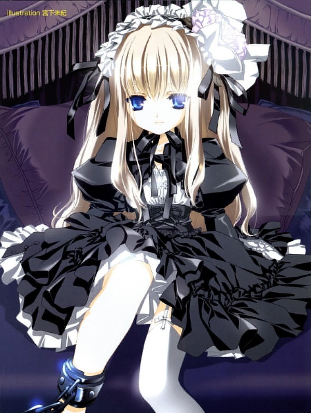 谁有日本可爱动漫银发蓝眸少女图片