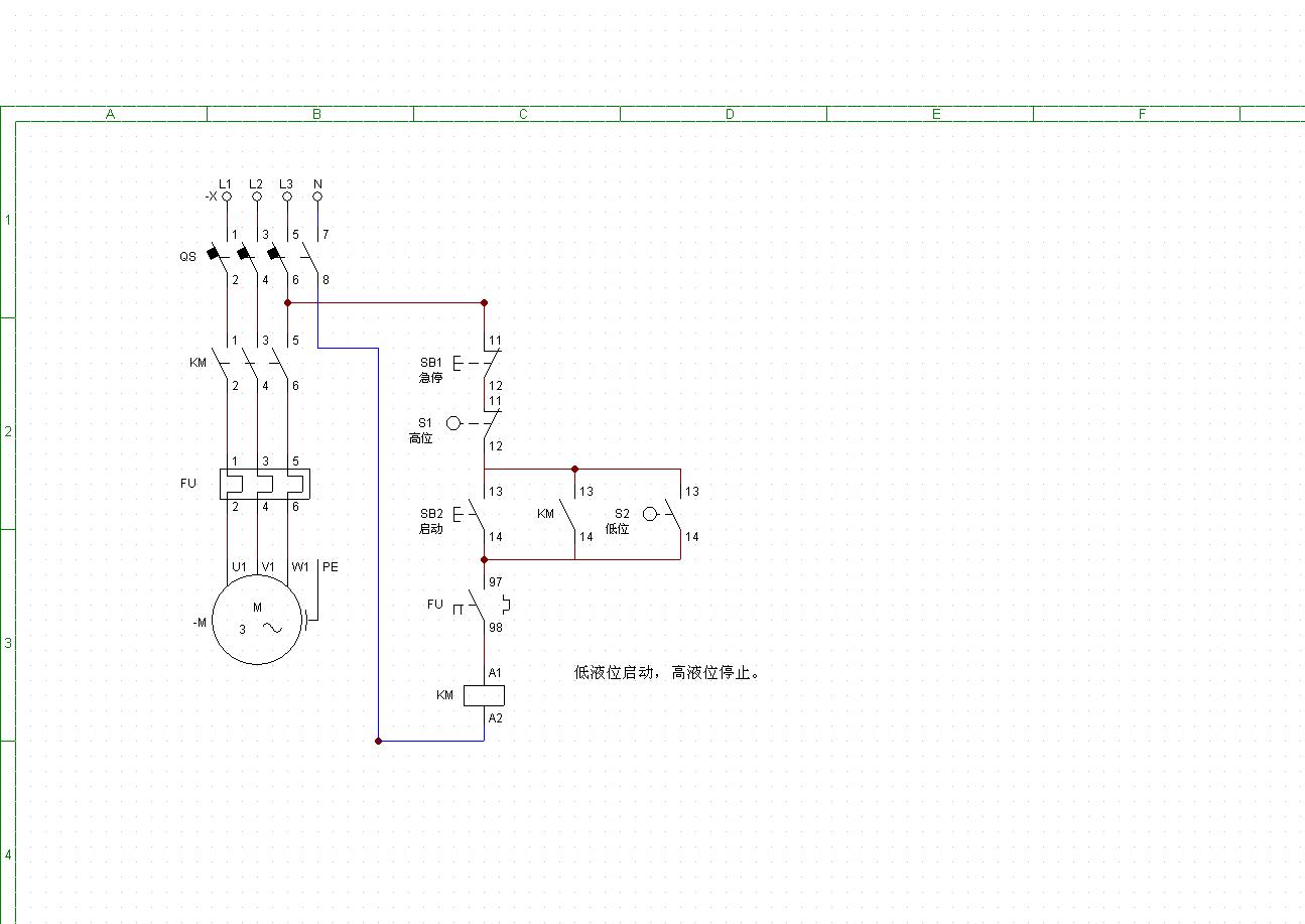 38 2013-08-18 求由浮球液位开关控制的水泵电动阀门接线图,谢谢!图片