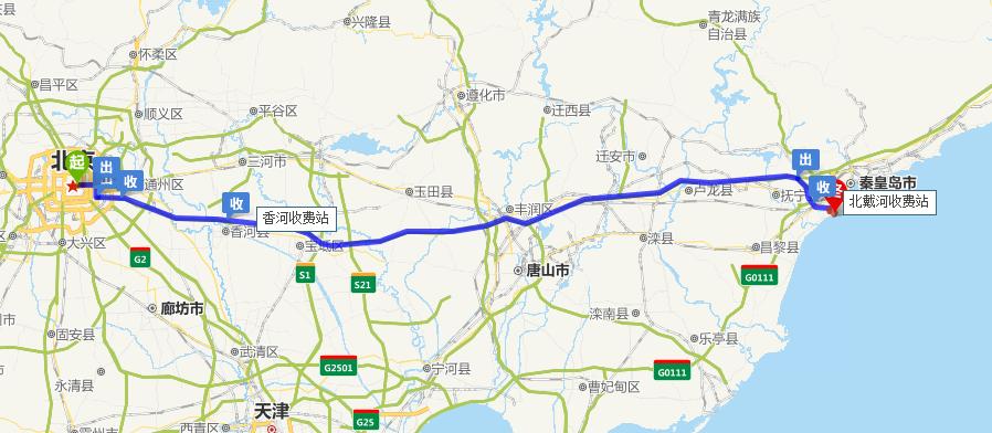 北戴河离北京有多远