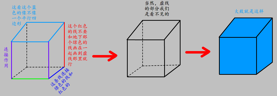 正方体怎么画图片