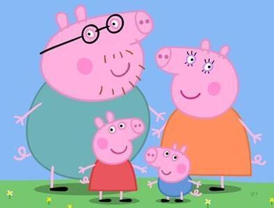 小猪佩奇》在2004年开播后,便迅速风靡全球,击败了99%的动画片,成为图片