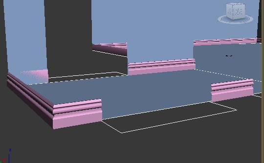 3dmax用倒角剖面画踢脚线图片