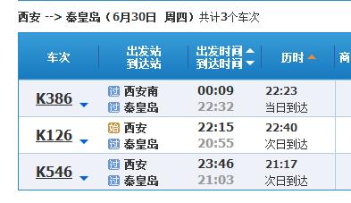 西安到秦皇岛旅游