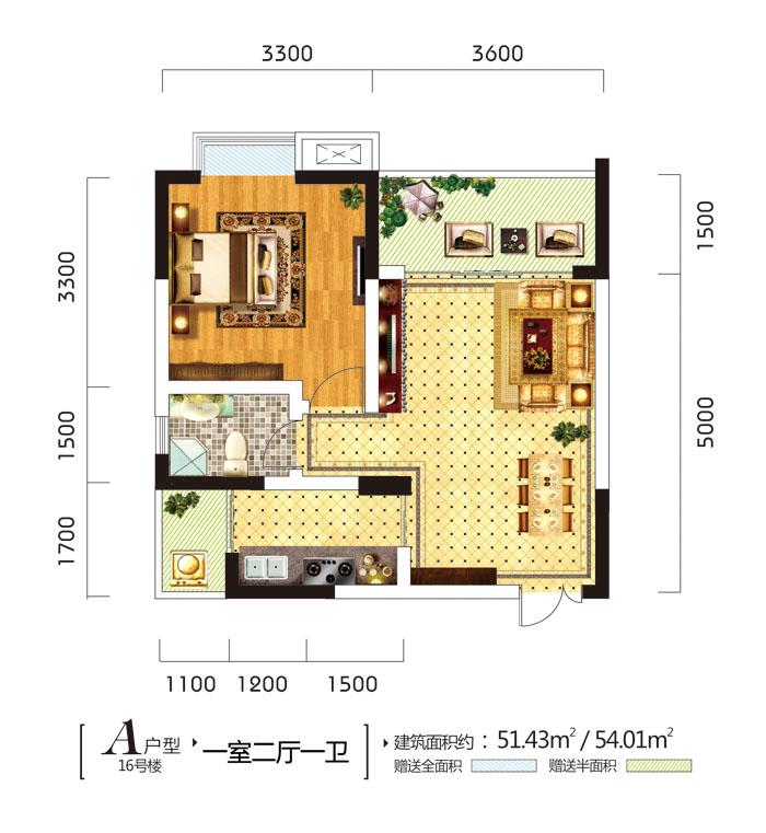 50平米一室一厅怎么改成两室一厅图片