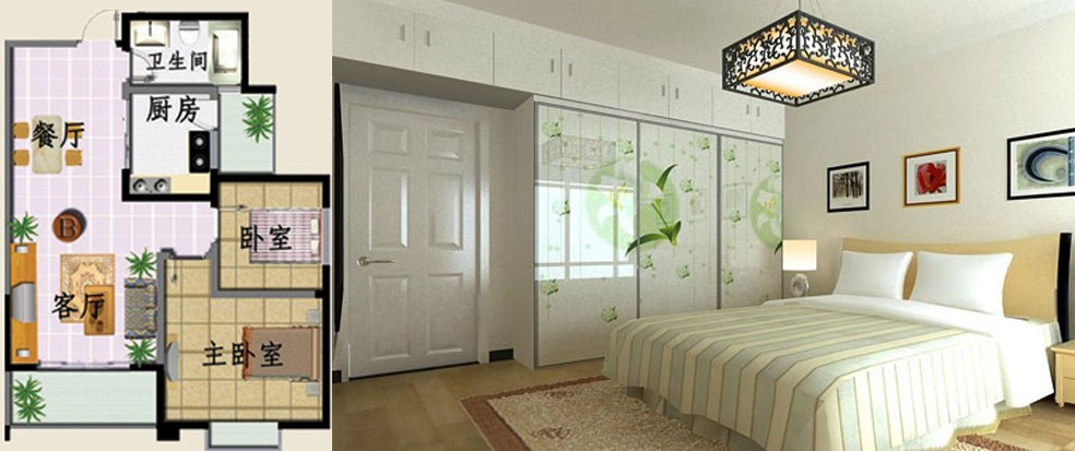 12方的小卧室该如何设计?长4m(有窗子),宽3m!图片
