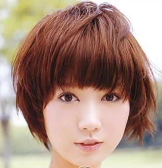 不烫不染的女生短发发型好看吗?图片