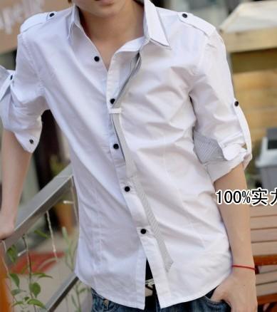 男士白衬衫搭配牛仔裤-同问白色衬衫配什么裤子 男