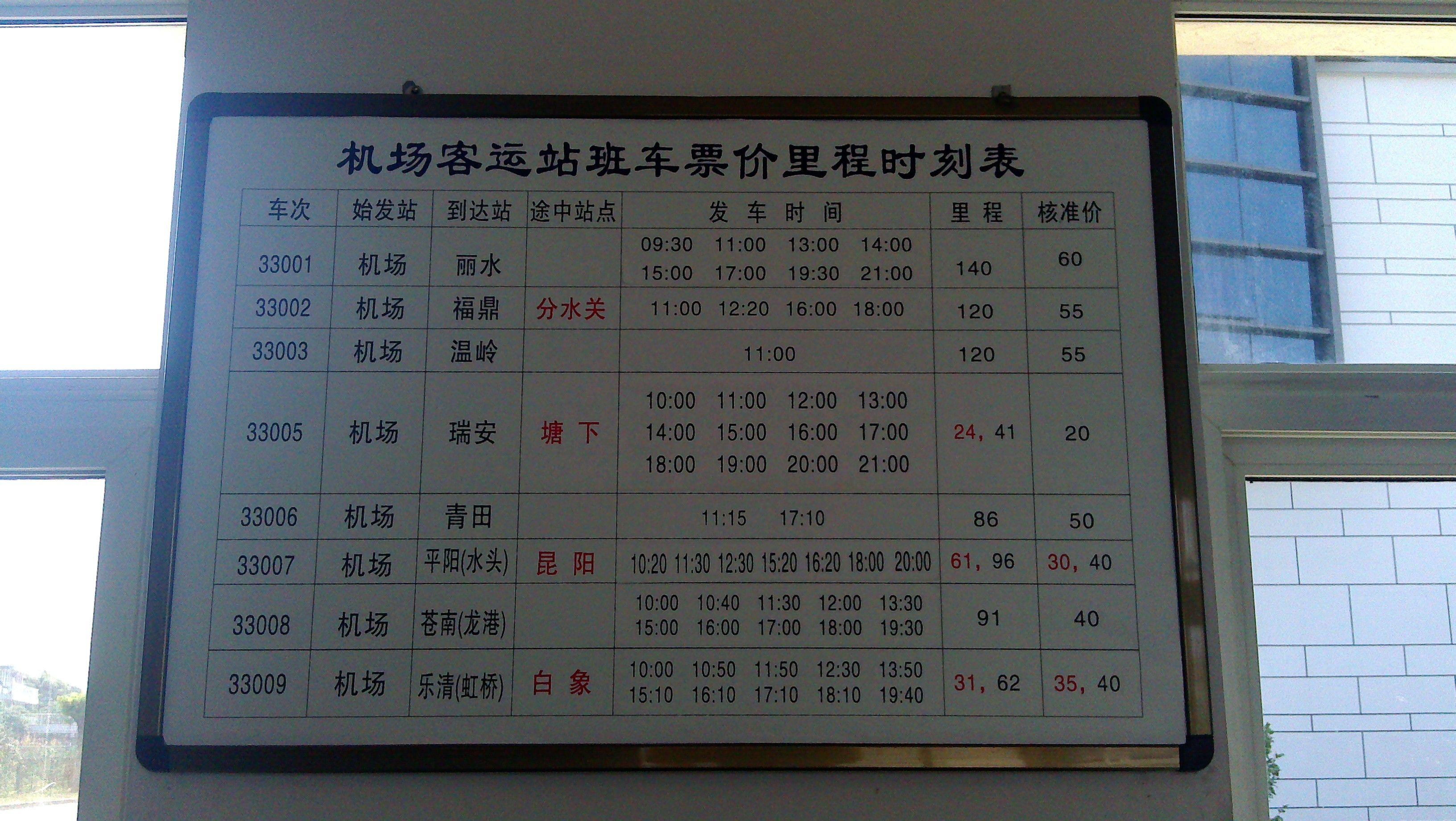 温州龙湾机场到台州