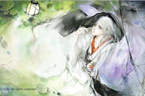 有手绘的古风穿白衣服的男子吗图片
