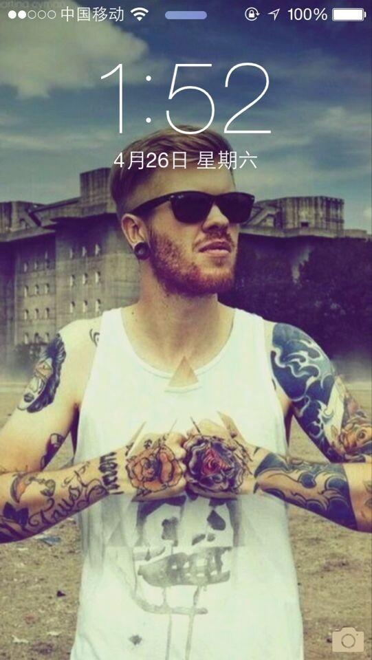 欧美霸气纹身男头像图片