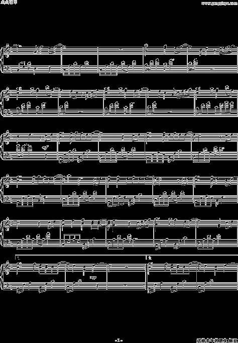 求bigbang钢琴曲谱.不要带降调的图片