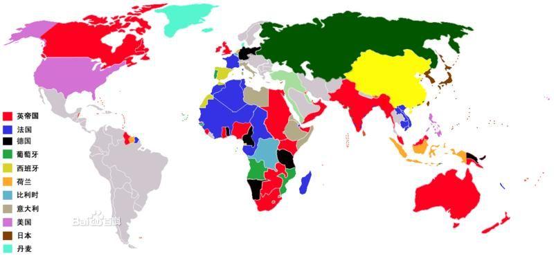 二战法国殖民地地图