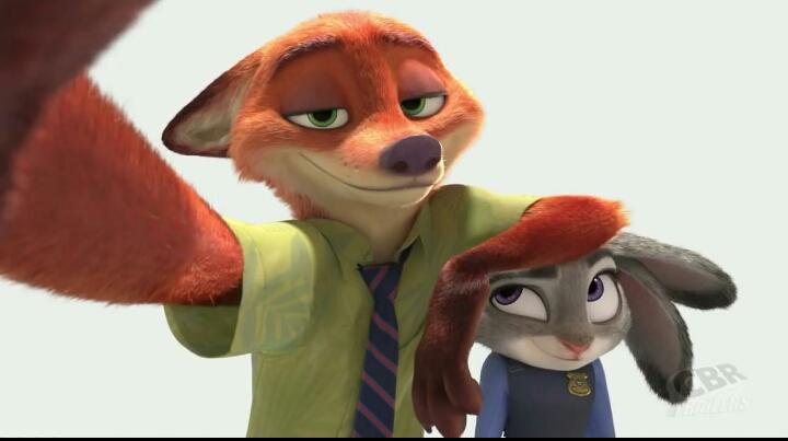 求疯狂动物城里狐狸的高清图片,和兔子在一起的也可以图片