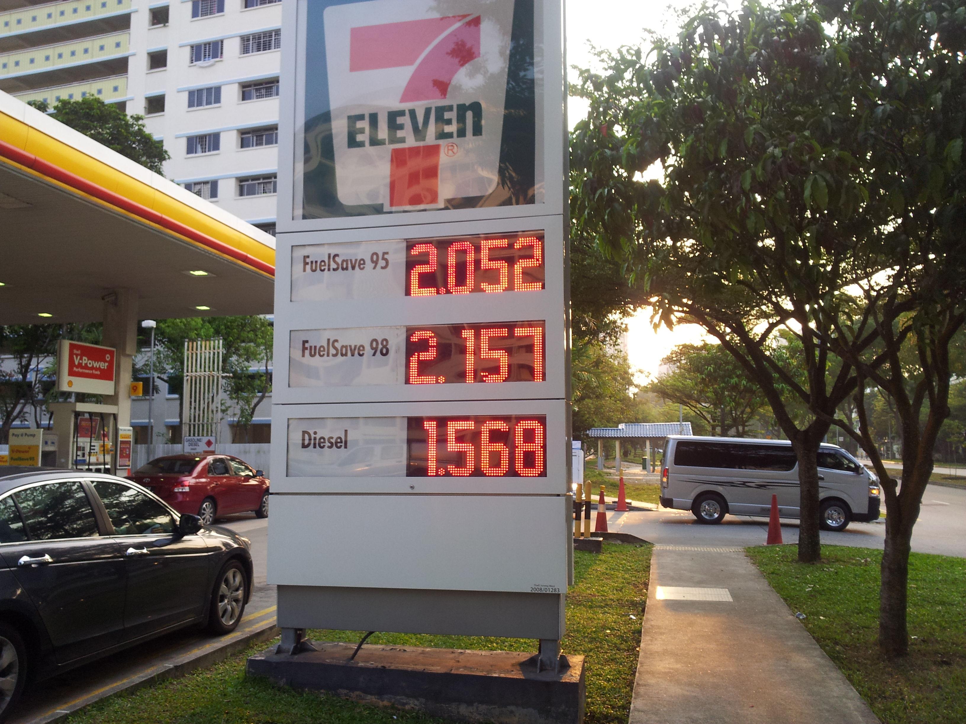 方便司机比较价格,嫌贵的可以去其他加油站加油