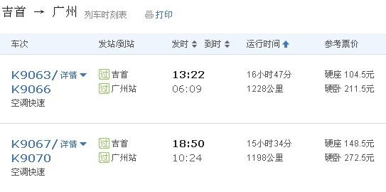 坐火车到凤凰古城