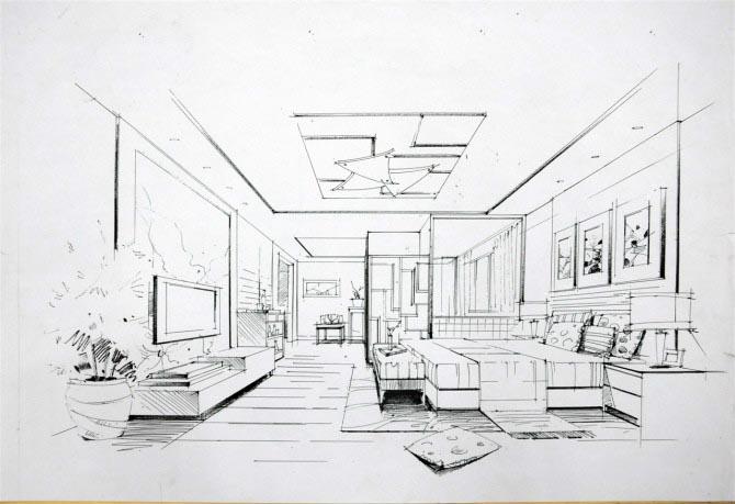 单现代风格主要在家具和玻璃制品上体现,然后就是软装配饰,包括挂画.图片