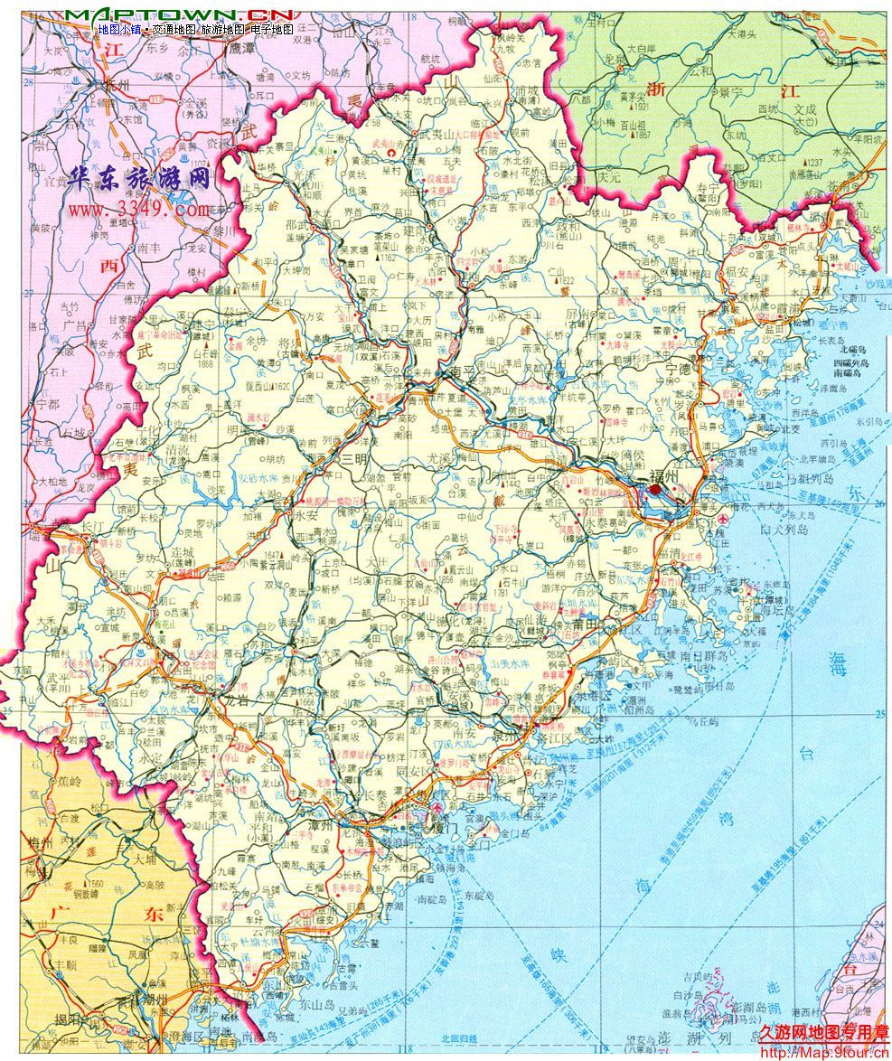 福建地图高清版大图_福建地图高清版图片