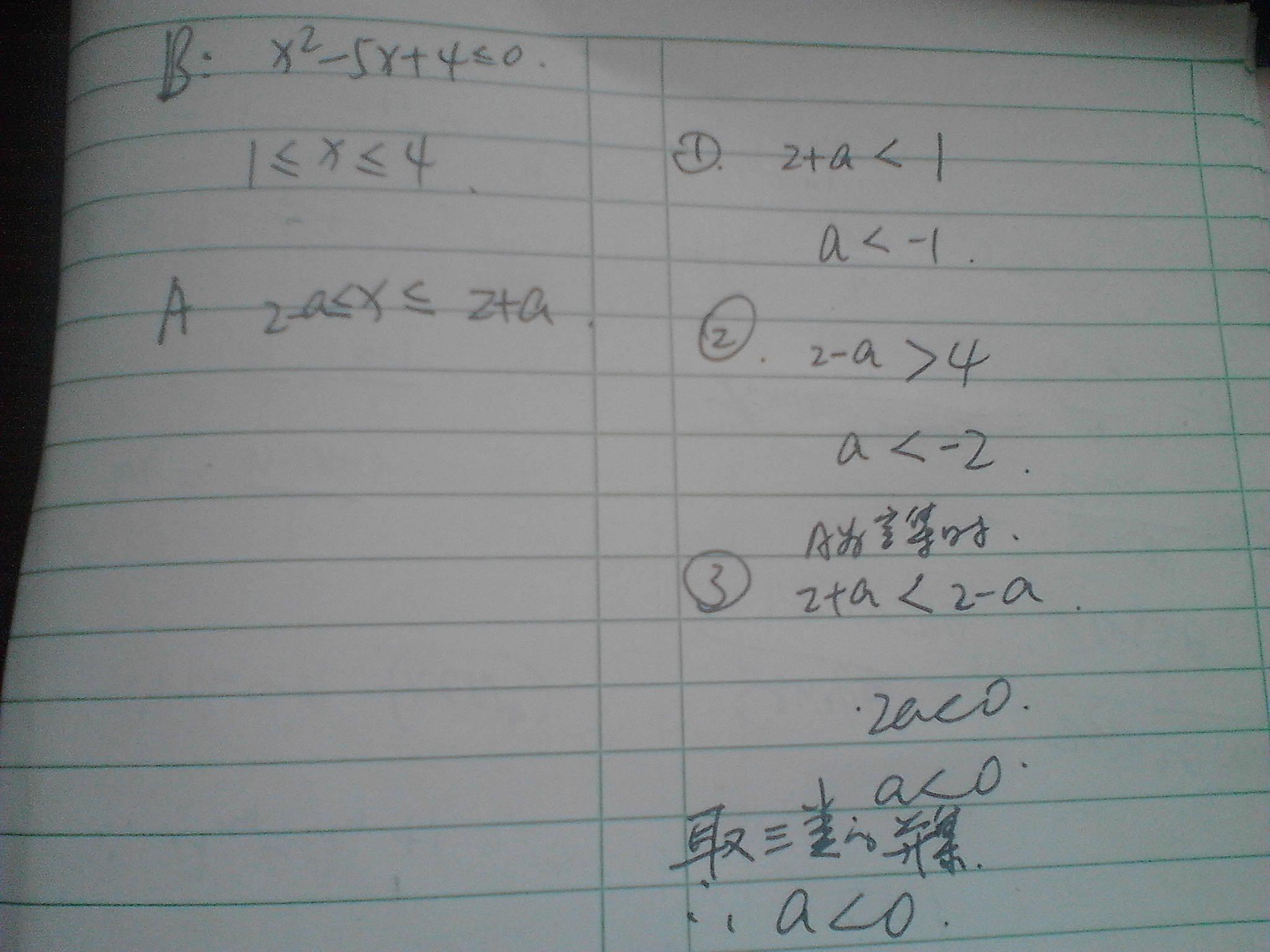 a x 2 a x 2 a ,b x x 2 5x 4 0 若a b 空集高清图片