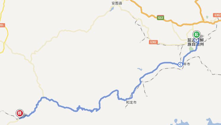 延吉到二道白河距离