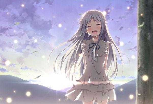 请问有没有动漫里漂亮的女孩流泪时的图片?
