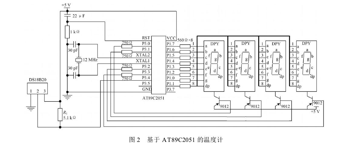 此电路图中数字温度计设计的c语言程序图片