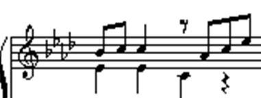 这种记法是把2个声部记录在一行谱表上了,在钢琴上的话,需要用一只手图片