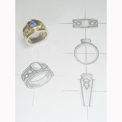 首饰设计手稿素描图图片