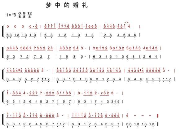 《梦中的婚礼》钢琴简谱及弹琴方法!图片