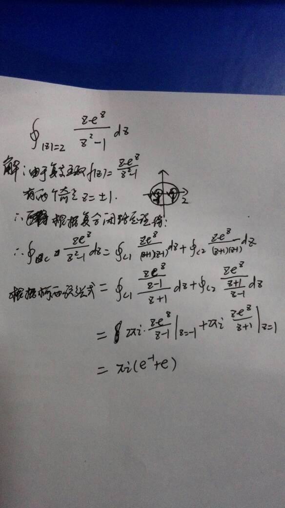 留数证明柯西积分公式