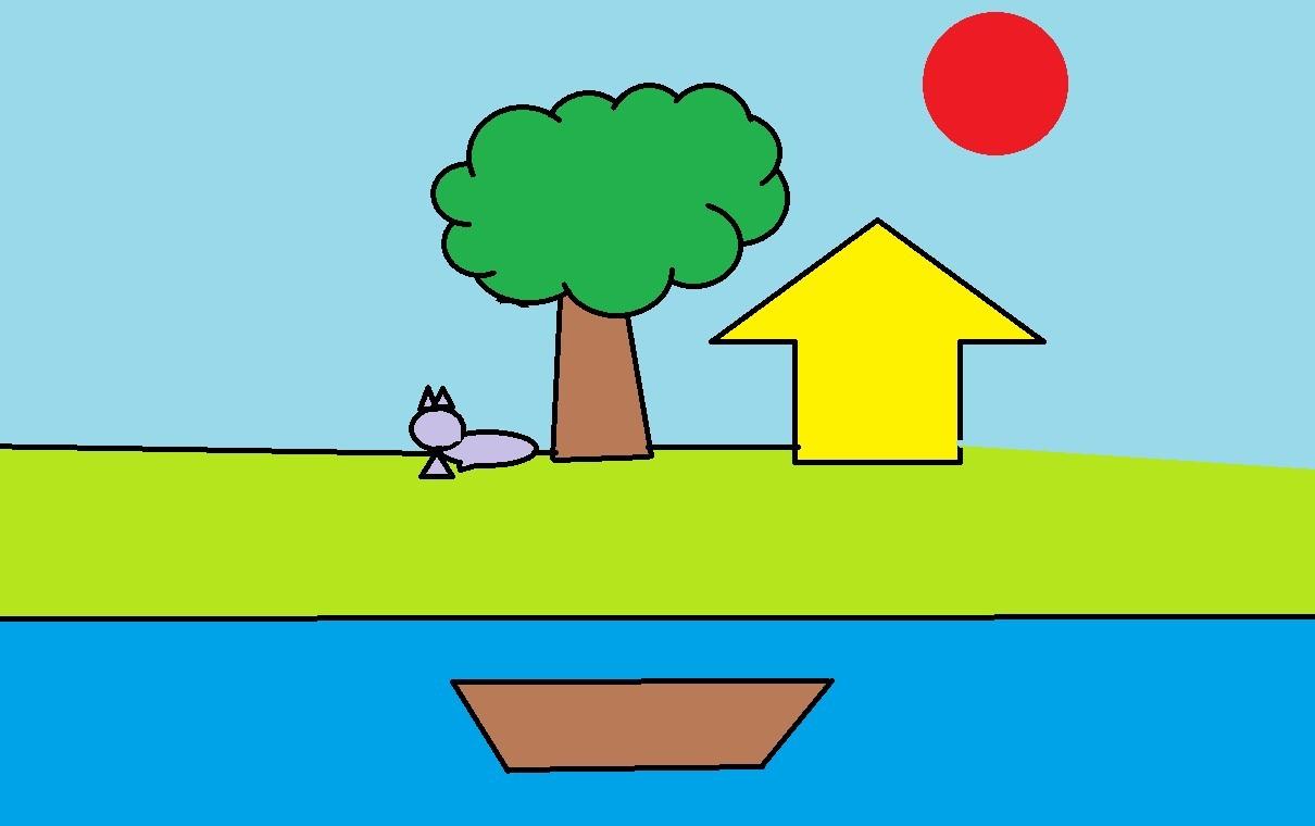 画一幅画简单大方的画分享展示图片