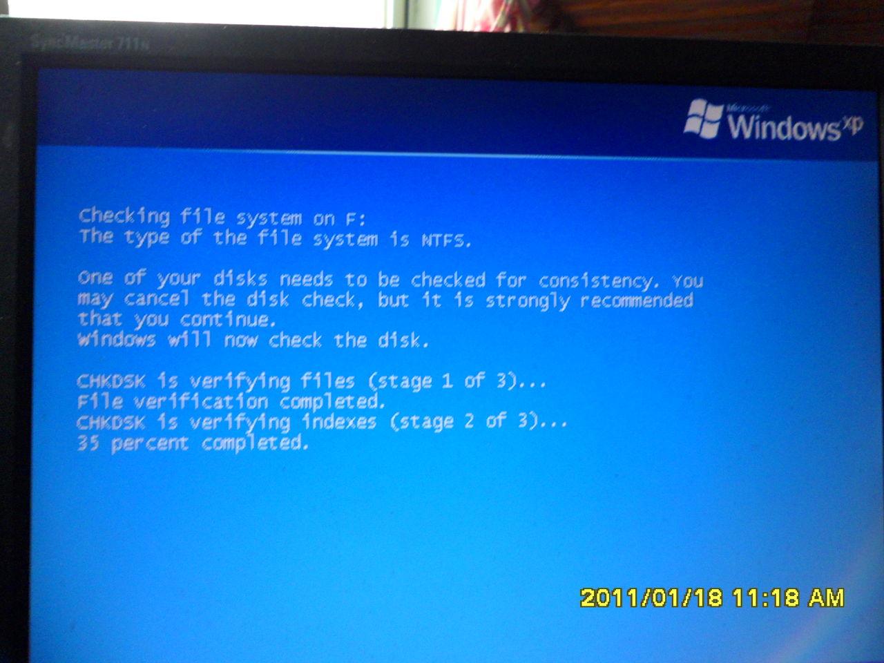 8mb开机显示winxp滚动条滚动两三下就直接进去桌面图片-电脑开机桌