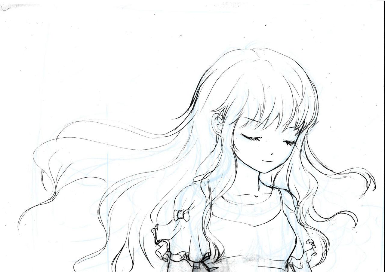 几张唯美人物的铅笔画_百度 -有关于花的简笔画