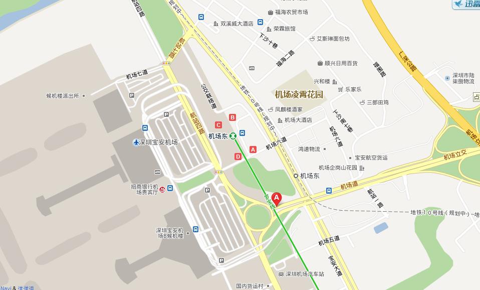 深圳宝安机场平面图