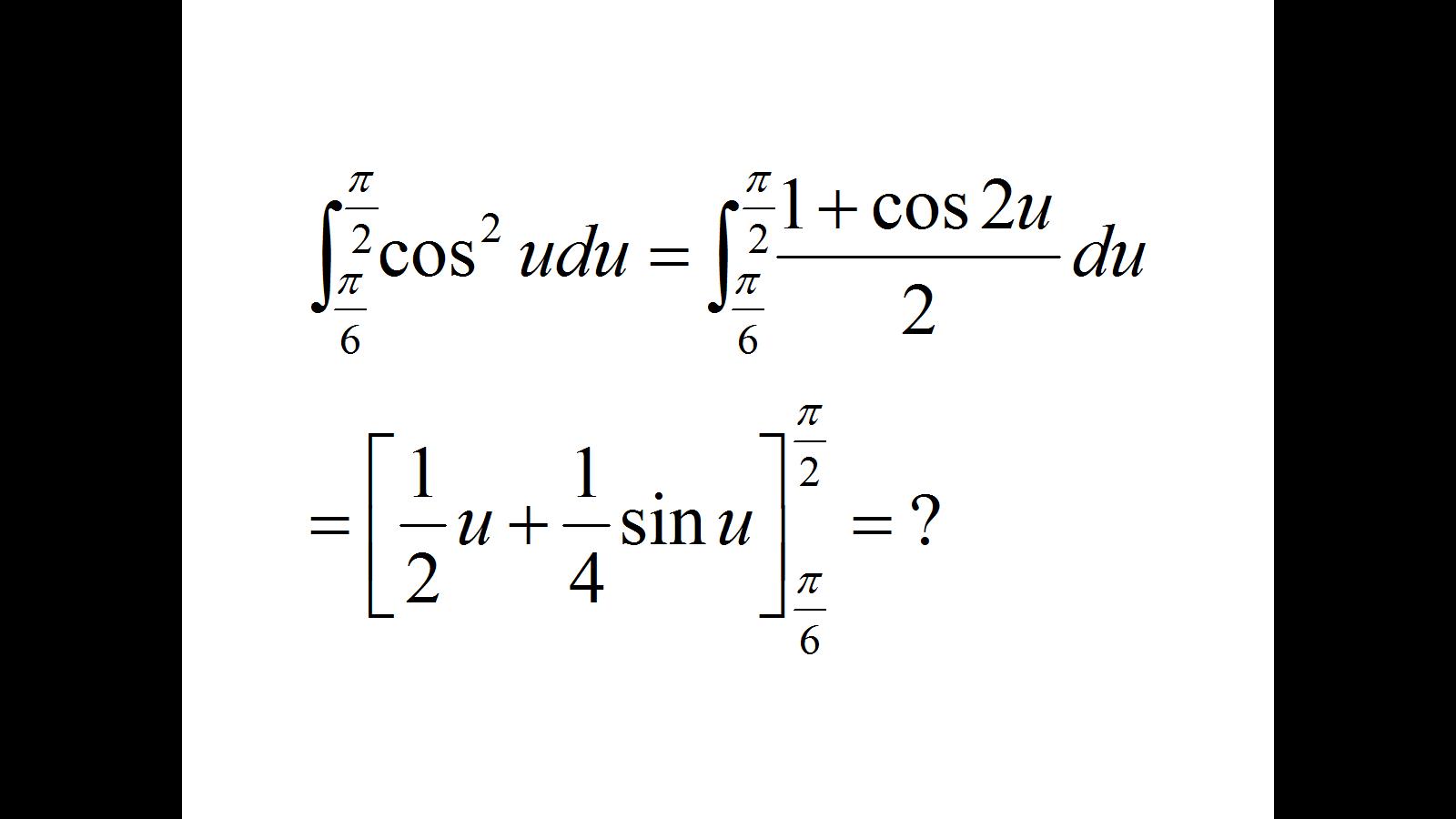 cosu^2du