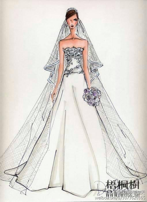 我希望画漂亮的衣服,款式,也希望把穿衣服的模特画的好看图片