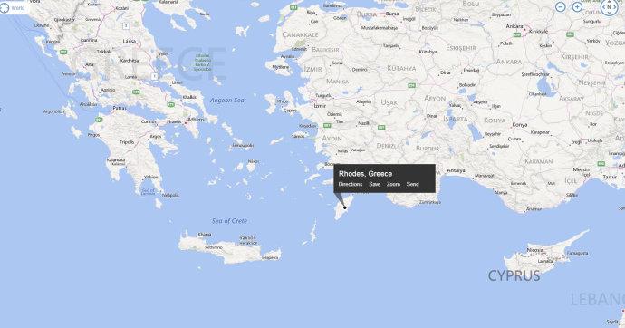 希腊罗德岛地图