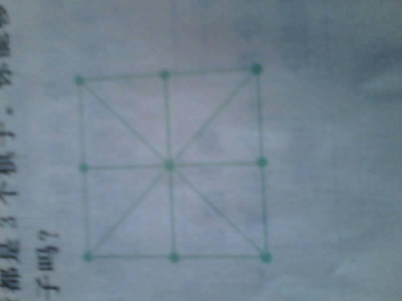 9个棋子摆成8行每行都是3个棋子你能移动其中的2个使图片