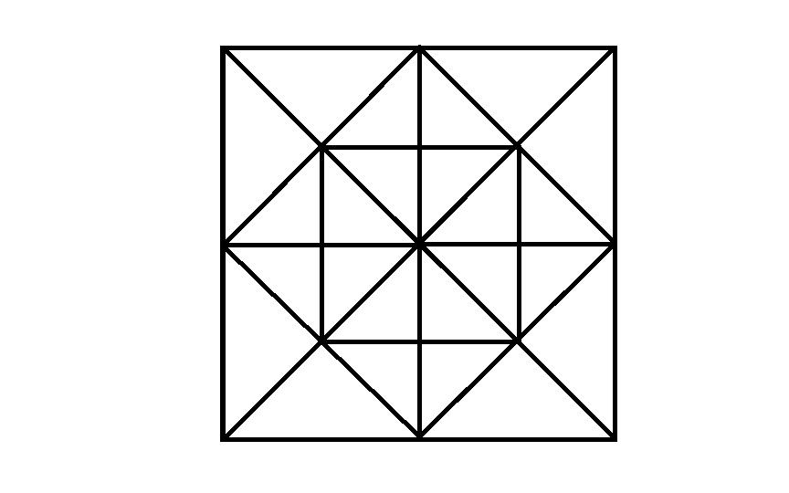 了4个小正方形(只看等分线分出的小正方形)数出来有12个三角形4*12=48图片