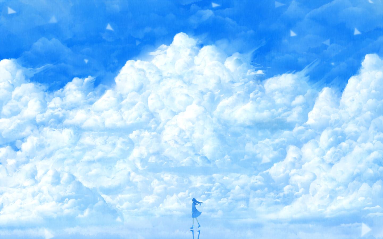 求二次元蓝色冷色系唯美图片图片