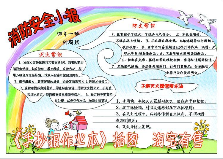 小学生安全绘画手抄报图片
