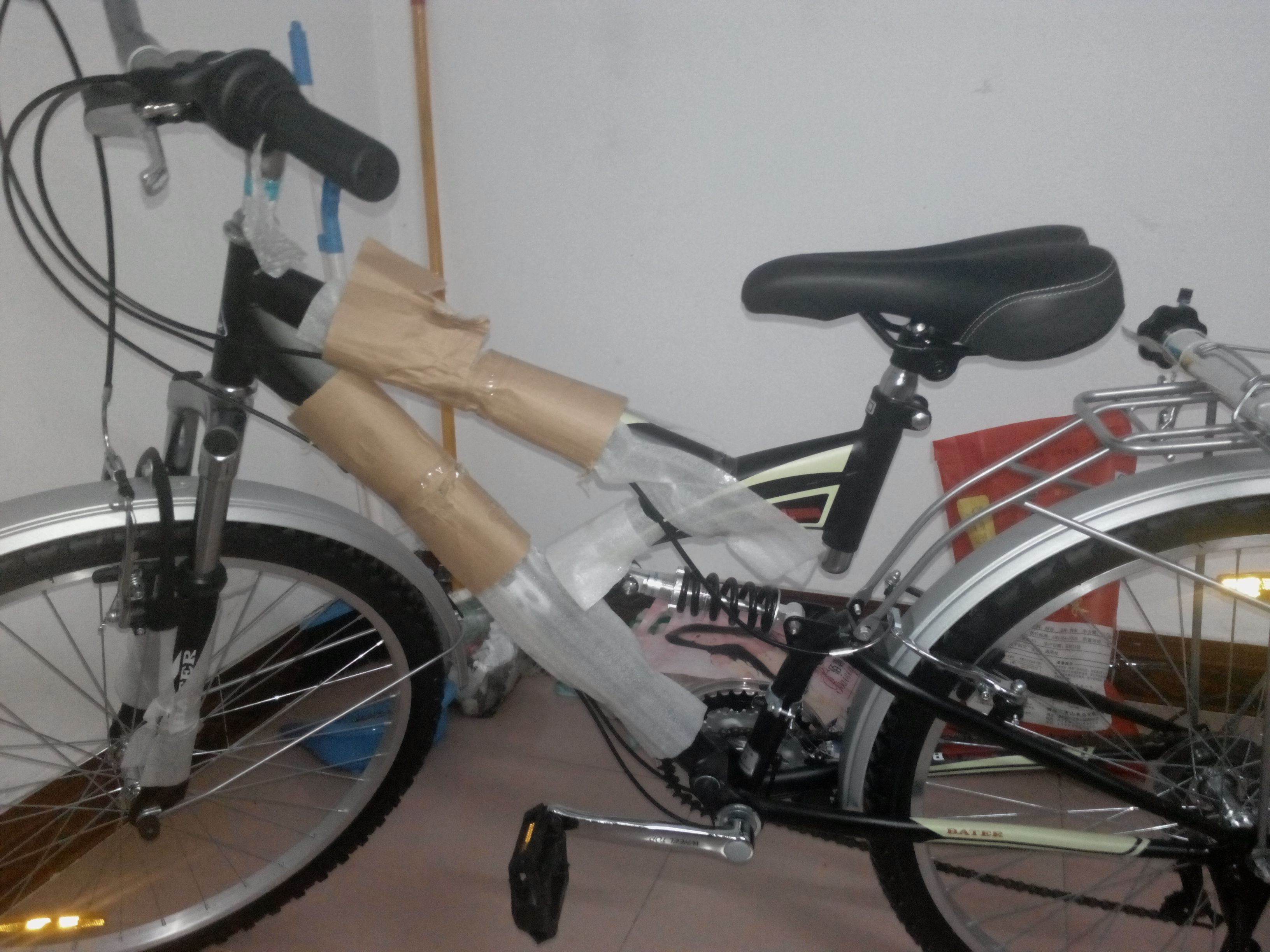 自行车怎么改装成电动车图片