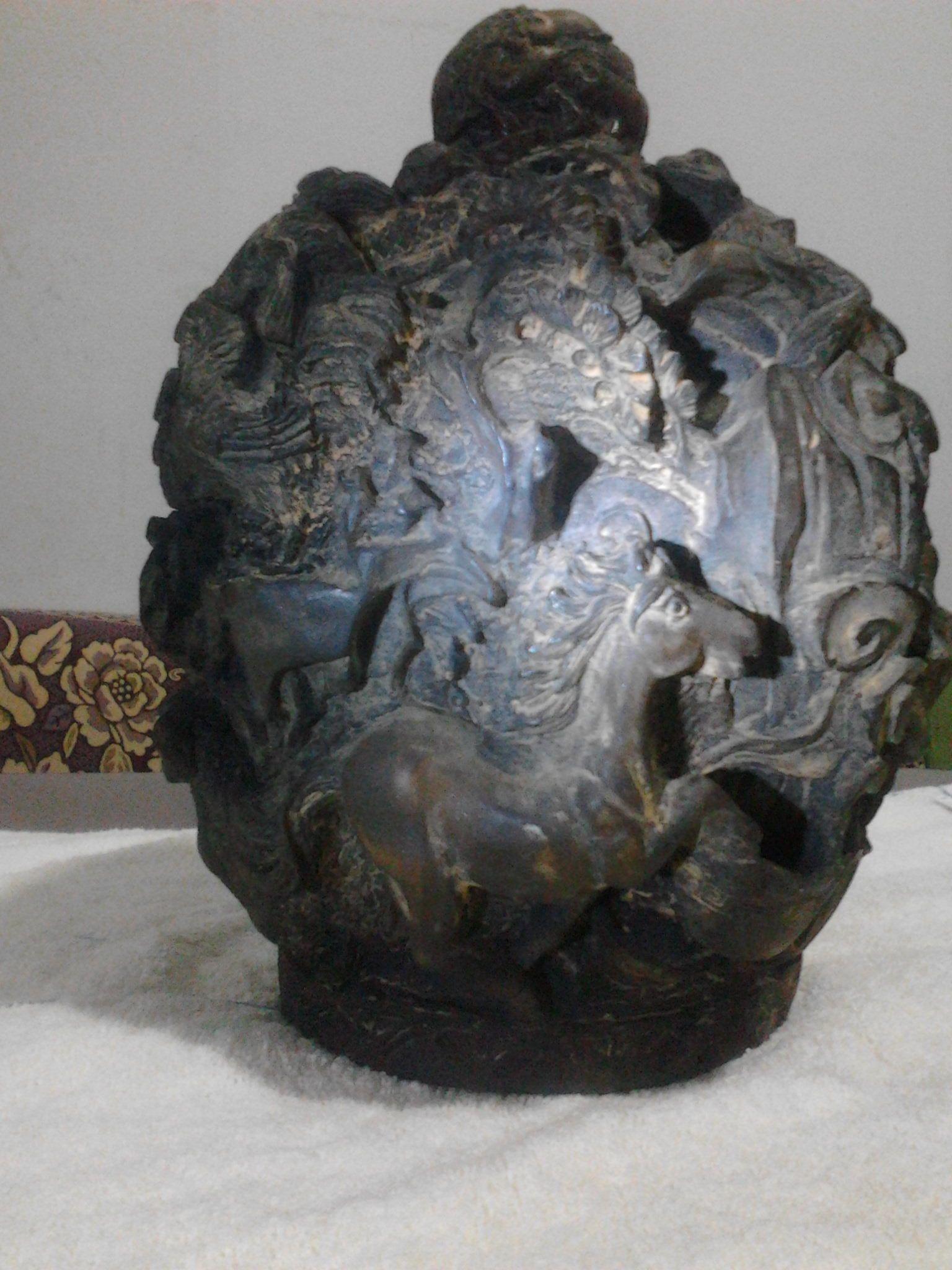 大清乾隆年制十二生肖招财进宝雕刻