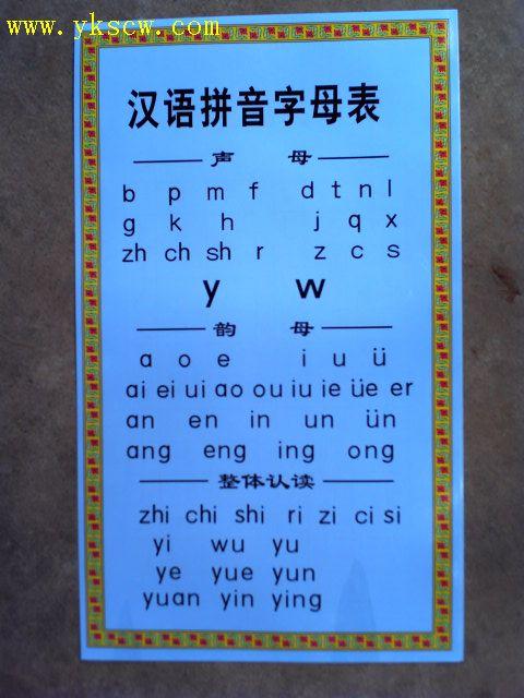 《汉语拼音字母表》(大小写对应)图片
