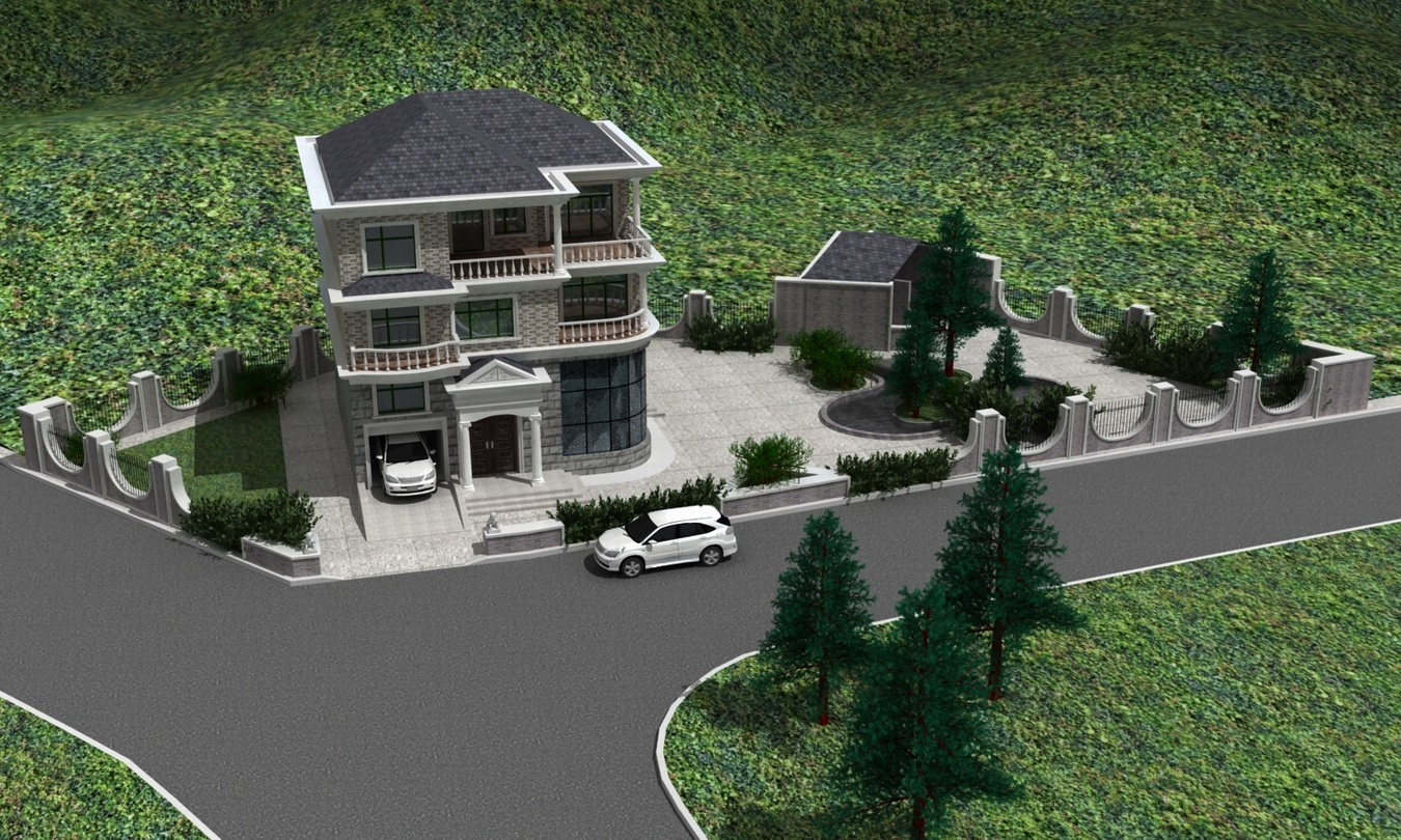 农村住宅庭院设计图_农村别墅庭院设计图,农村庭院鱼池设计图图片图片