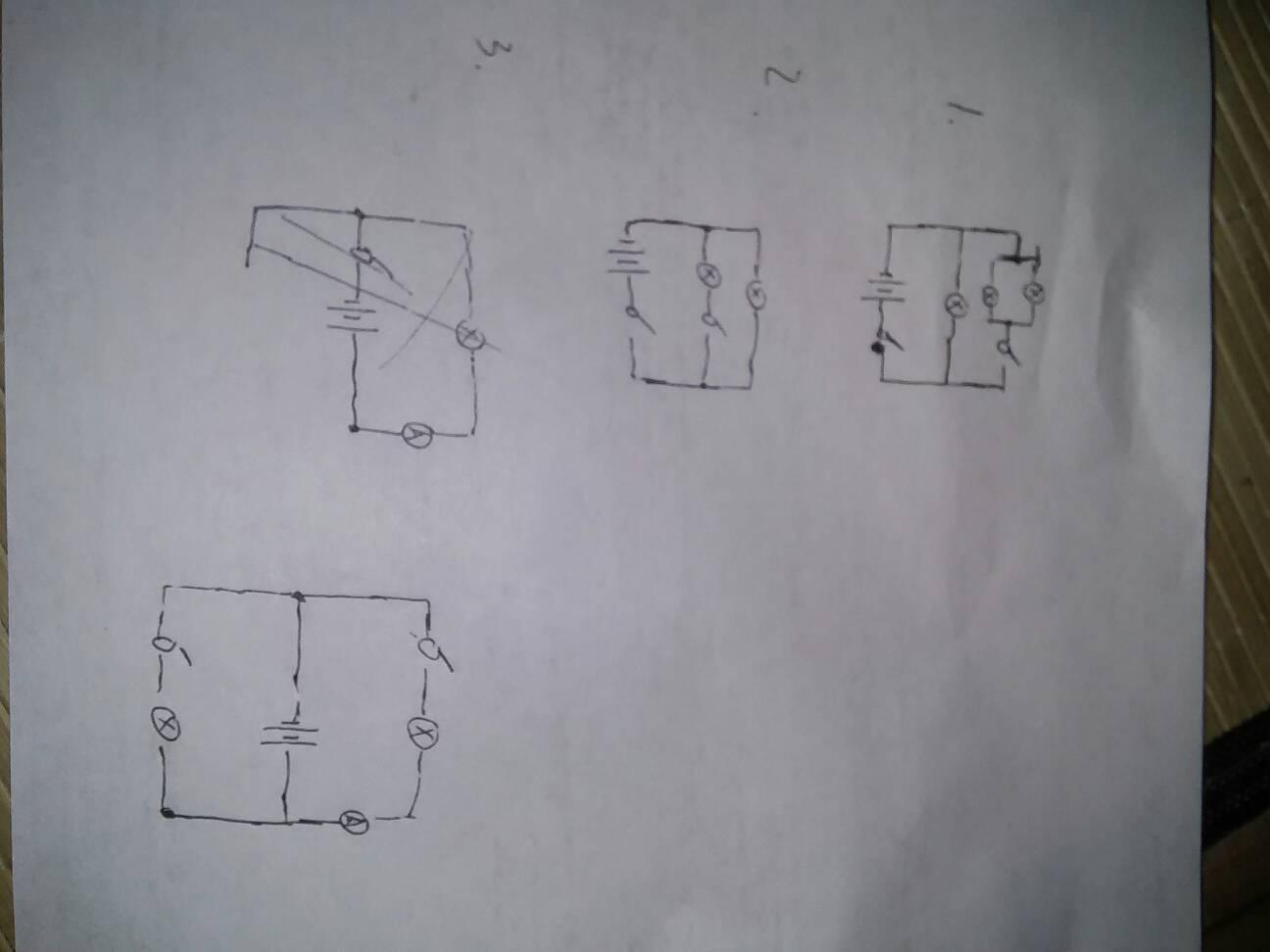 初三物理根据实物图画电路图图片