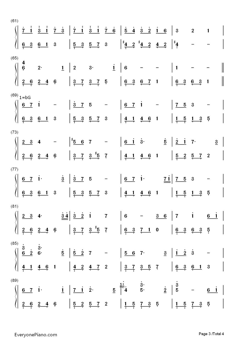夜的钢琴曲22的简谱图片