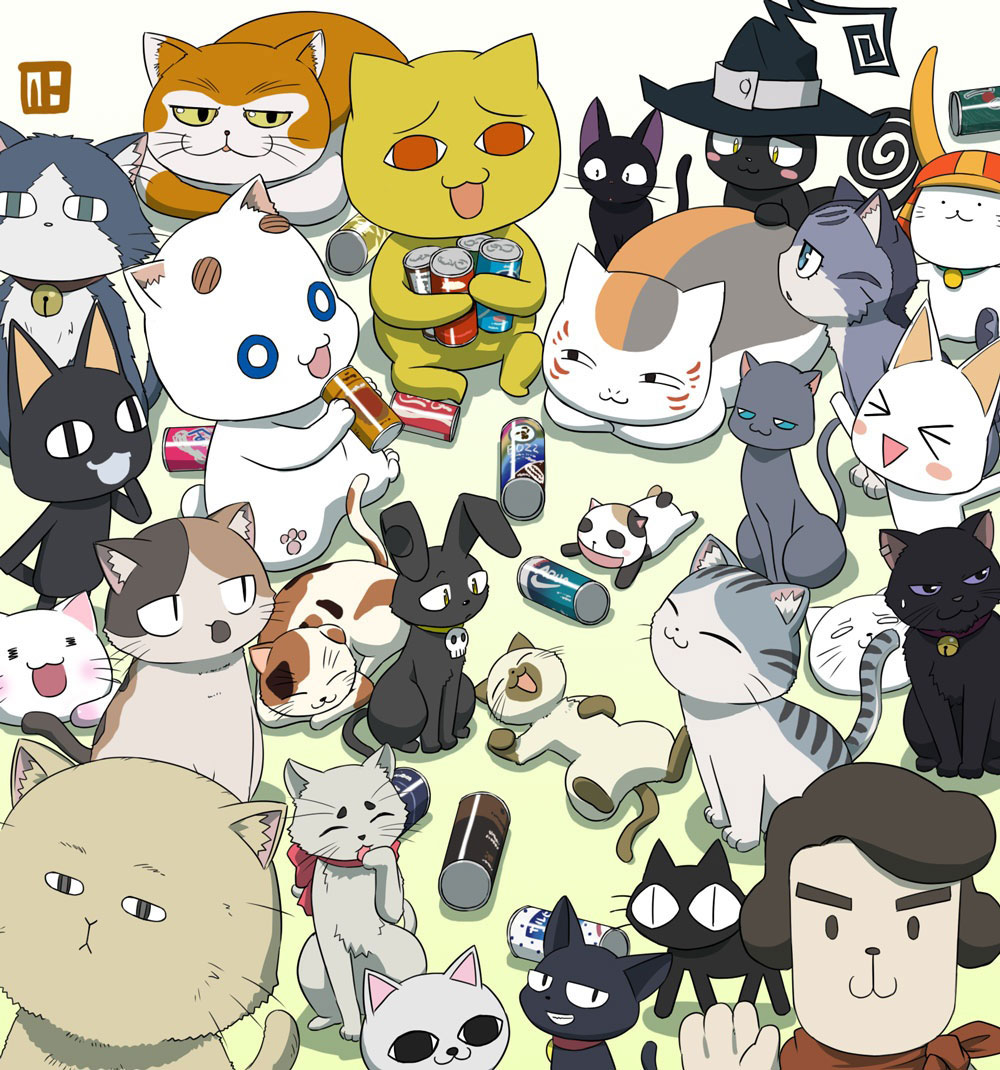 提供一些动漫猫咪角色的图片
