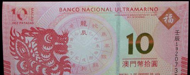 印在澳门币上面的地方是哪些地方?