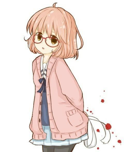 日本动漫人物粉红色头发金黄色瞳孔的女孩